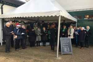 Carol singing at Polsden Lacey, 3rd December 2016